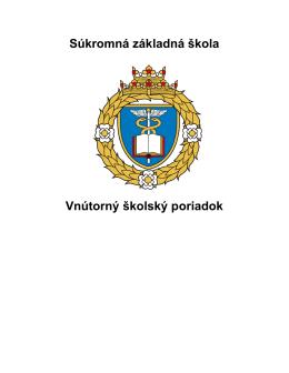Vnútorný poriadok školy SZŠ