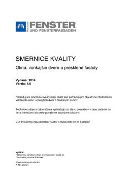 Internorm smernice kvality