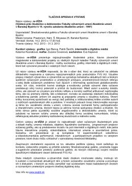 TLAČOVÁ SPRÁVA K VÝSTAVE - Stredoslovenská galéria