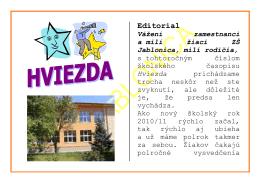 časopis Hviezda - Základná škola Jablonica