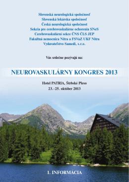 neurovaskulárny kongres 2013 - Česká neurologická společnost