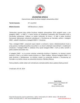 DMZ_2014_sprava - Slovenský Červený Kríž, Územný spolok