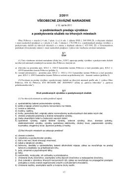 Pôvodné znenie VZN č. 2/2011