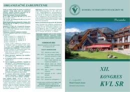 xii. kongres kvl sr - Komora veterinárnych lekárov SR
