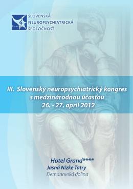 Informačná brožúra - III. Slovenský neuropsychiatrický kongres