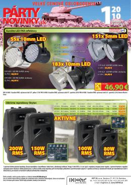 Eurolite LED PAR reflektory Aktívne reproboxy Skytec