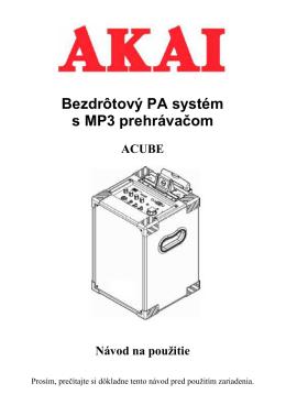 ACUBE SK manual - dia