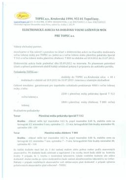 TOPEC a.s., Krusovska 1994, 955 01 Topolcany, ELEKTRONICKA