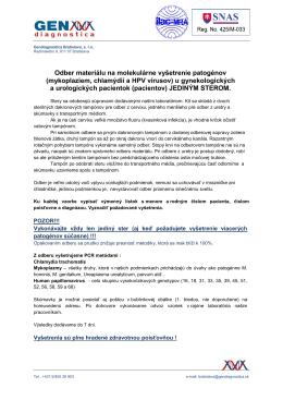 Návod na odber sterov. (.pdf)