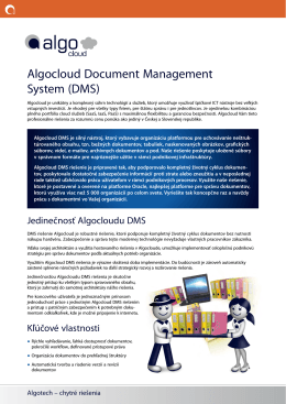 Algocloud Document Management System (DMS)