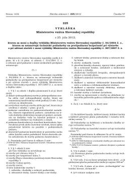 Čiastka 57/2012 (225) - Ministerstvo vnútra SR