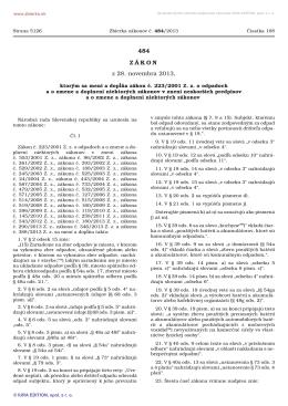 484/2013 Zákon, ktorým sa mení a dopĺňa - NATUR