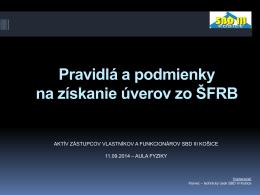 nájdete - Stavebné bytové družstvo III Košice