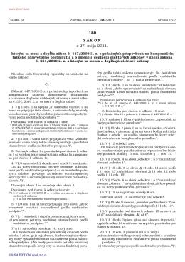 180/2011 Zákon, ktorým sa mení a dopĺňa zákon č. 447