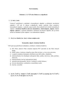 Návrh dodatku Dodatok č. 1 k VZN obce Diakovce o odpadkoch 1