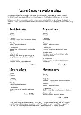 Vzorové menu