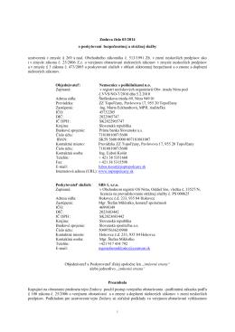 Zmluva číslo 03/2014 - Nemocnice s poliklinikami no
