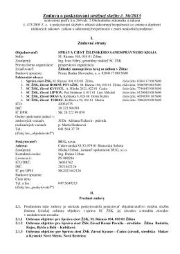 Zmluva o poskytovaní strážnej služby č. 56/2013