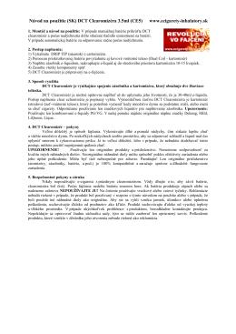 Návod na použitie (SK) DCT Clearomizéra 3.5ml (CE5) www