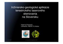 Inžiniersko-geologické aplikácie terestrického