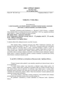 Verejná vyhláška 1.7.2013