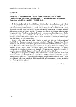Bacigálová, K. Flóra Slovenska X/2. Mycota (Huby