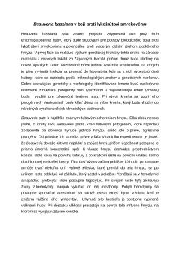 Beauveria bassiana v boji proti lykožrútovi smrekovému