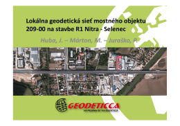 Lokálna geodetická sieť mostného objektu 209-00 na