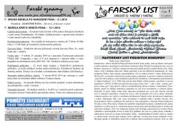 Farské oznamy - Farnosť Martin - Mesto