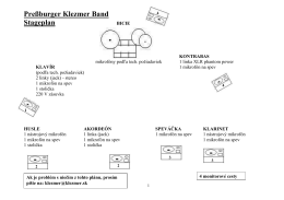 Stage plan & rider (pdf) - Pressburger Klezmer Band