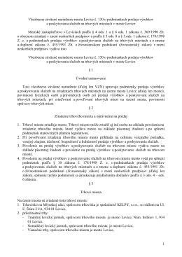 VZN mesta Levice č. 130 o podmienkach predaja