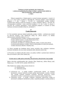 VZN č. 5/2011 o niektorých podmienkach predaja