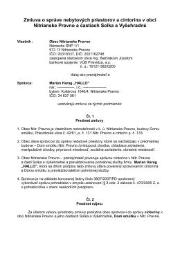 Zmluva o správe nebytových priestorov a