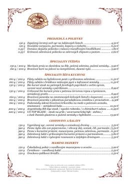 Stiahnuť Špeciálne menu