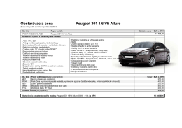 artid=36;Obstarávacia cena Peugeot 301 1.6 Vti Allure