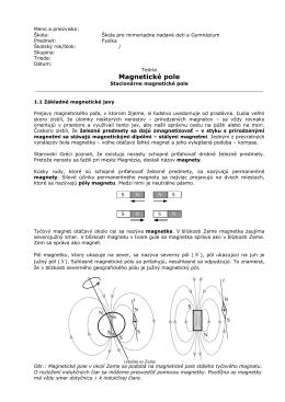 Teória - Elektrické pole a elektrický prúd