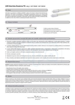 LED žiarivka lineárna T8 (obj. č. 04110649 - 04110654)