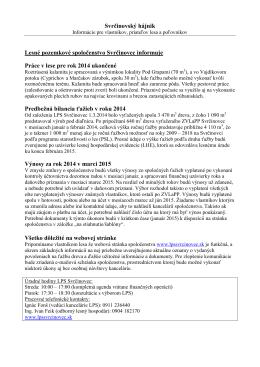 Hájnik 4/2014 - Lesné pozemkové spoločenstvo Svrčinovec