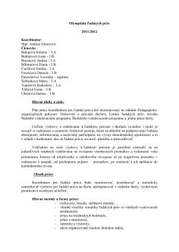 Olympiáda ľudských práv 2011/2012 Koordinátor: Mgr. Andrea