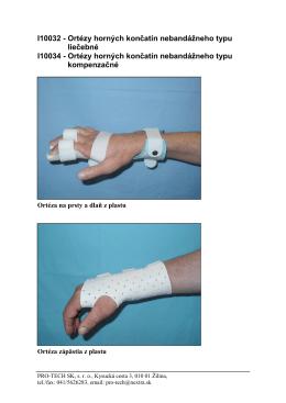 Ortézy horných končatín nebandážneho typu - PRO