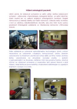 Informačný leták pracoviska - Pracovisko radiačnej onkológie