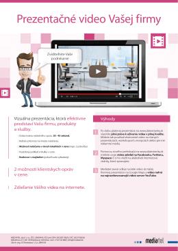 Prezentačné video Vašej firmy