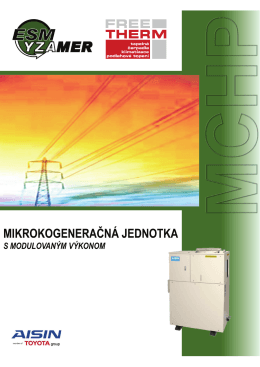 mikrokogeneračná jednotka s modulovaným výkonom