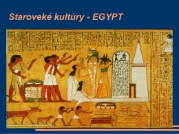 Staroveké kultúry