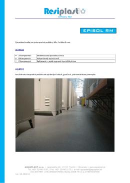 EPISOL RM - Aquaplast, sro