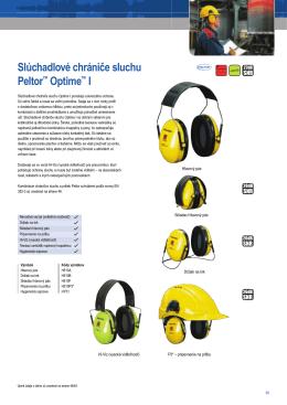 Slúchadlové chrániče sluchu Peltor™ Optime™ I
