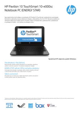 Datasheet HP Pavilion 10