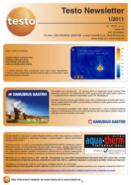 Testo Newsletter 1/2011