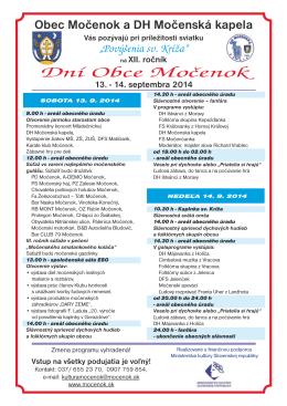 Dni obce 2014 (pdf - 481 KB)