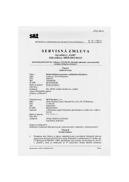 Servisná zmluva - DFNsP Bratislava